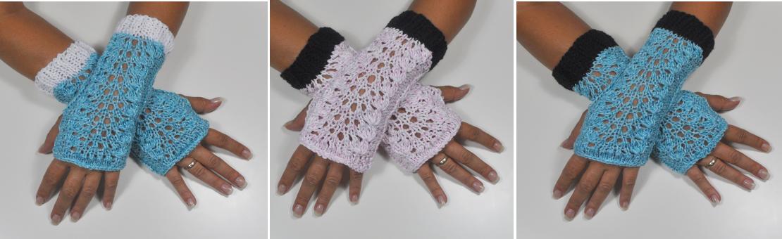 Stulpen - fingerlose Handschuhe - Fächer